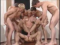 Sex hungry chaps gangbang
