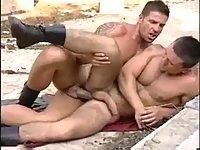 Huge dicks flaming outdoors buggery