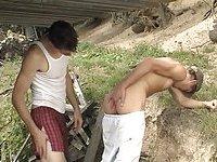 Bareback outdoor frigging