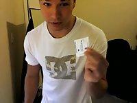 Lavish spooging in the condom