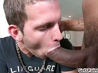 Logan getting fat black cock doggy style