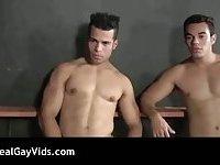 Amazing Latino gay threesome hardcore