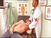 Lewd Guys Banging At Doctors Room