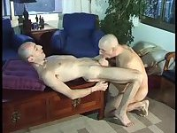 Ass stuffing with cock and dildo