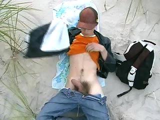 Teen gay wanking and cumming outdoor