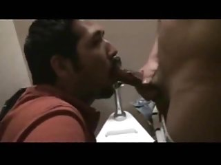 Giving head in the toilet