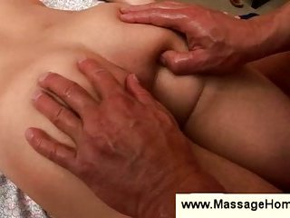Gay uses his body weight to massage boy