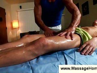 Innocent boy gets his balls massaged