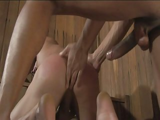 Latinos gay dudes have fun fucking bareback