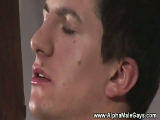 Hunk gets horny stud dick in his mouth