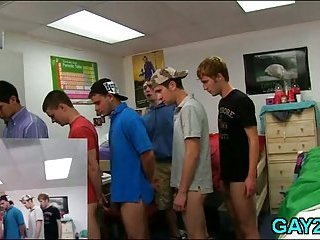 Gripping gay orgy in the college