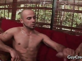 Cock graving dude finally gets his tight anus fucked