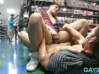 Amazing gay anal fucking