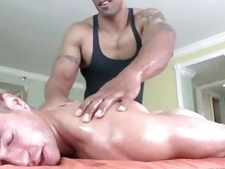 Gay masseur gets lucky with straight bait