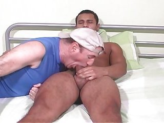 Str 8 Latino has massive thighs and cock