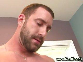 Check this horny hunk sucking