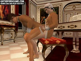3D cartoon english stud getting fucked hard