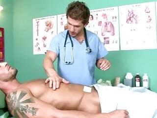 Naughty gay doctor enticed