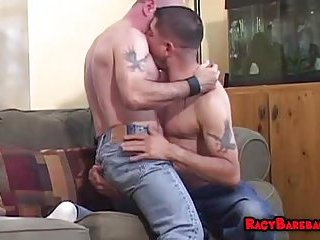 Mature hunks ready for action