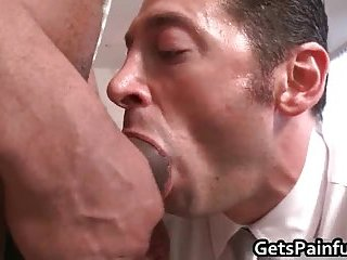 Lucky dude gets huge cock up his ass
