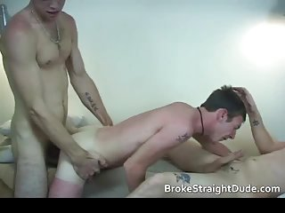 Broke and totally guys having horny gay sex till cum