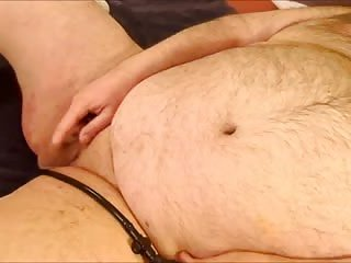 Chubby Guy Jerking Off Alone