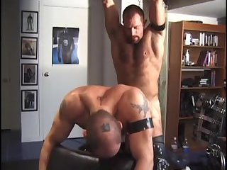 Two hunks ass fucking