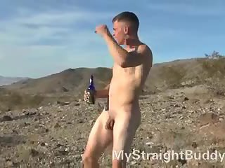 Drunk dude walking alone