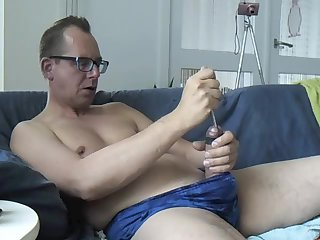 Solo Guy Using Toy For Wanking