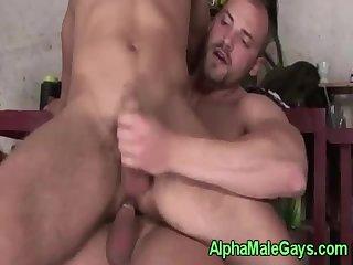 Straight jock makes a big bear cum