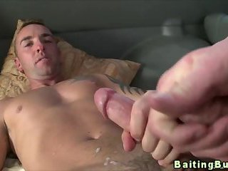 Straight guy gives gay dude his jizz