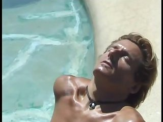 Hot Cock Blowing by the Pool