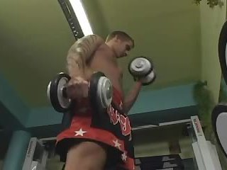 Gym Guy Beating Off