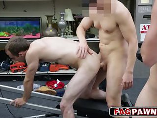 Fitness trainer get to suck a cock and fucked in the ass