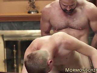 Gay mormon plows amateur