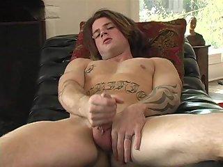 Devin Tugging Erect Dick
